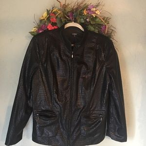 Elementz faux blk leather XL gently used